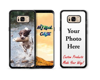 Silicone Shockproof Custom Samsung Galaxy Case Personalized with Photo for Samsung s8 PLUS, Samsung s8, Samsung s7, Samsung s7 Edge etc