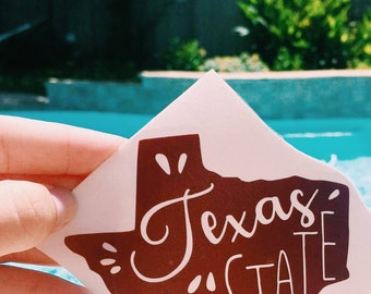 Texas State University Decal