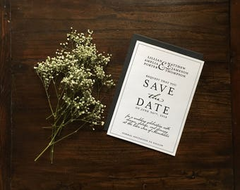 Printable Sophisticated Save the Date