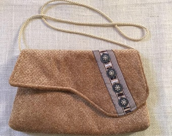 Vintage 1920s Style Gold Velvet Clutch