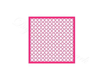 Quatrefoil Stencil SVG & Studio 3 Cut File Stencils Designs for Silhouette Cricut Files Cutouts Svgs Digital Template Geometric Patterns