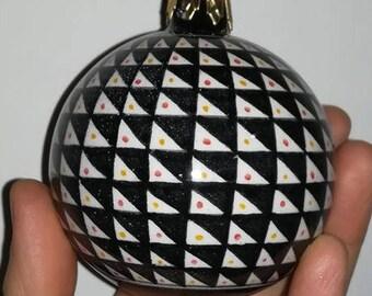 Ceramic ball for Christmas tree, hand-painted-handmade