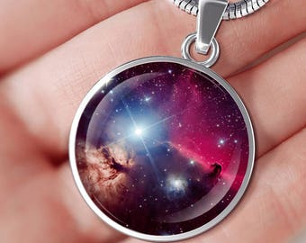 Nebula Necklace - 2018- Birthday- Cosmos Lovers- Nebula- Space- Luminous- Gift for Him- Birthday- Children- From Boyfriend- Present