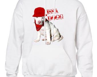 Red Bandanna Hoodie | Issa Dogg