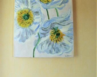 Fleurs du  Printemps peinture  à l'huile Française