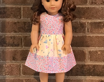 Easter dress for 18 inch dolls (fits American Girl Dolls)