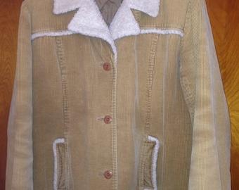 Vintage Lei Corduroy And Fleece Button Down Jacket Size Large