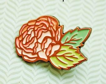 Rose Enamel Pin Set, Lapel Pin Set, Flower Enamel Pin, Rose Lapel Pin, rose pins enamel, garden roses, casual wedding, rose gold enamel pin