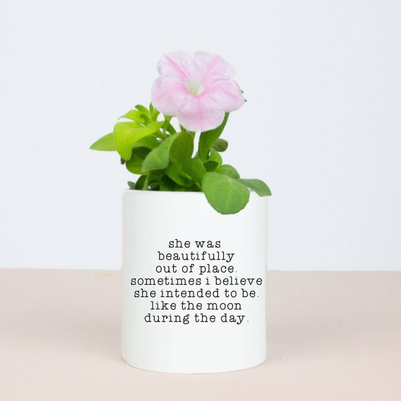 Moon during the day pencil pot, beautiful and unique homeware gift, special space moon quote, lovely gift