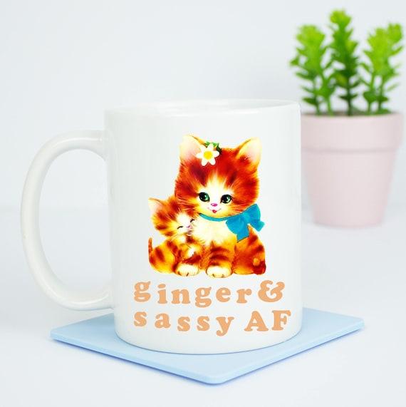 Ginger & Sassy AF mug, happy coffee mug