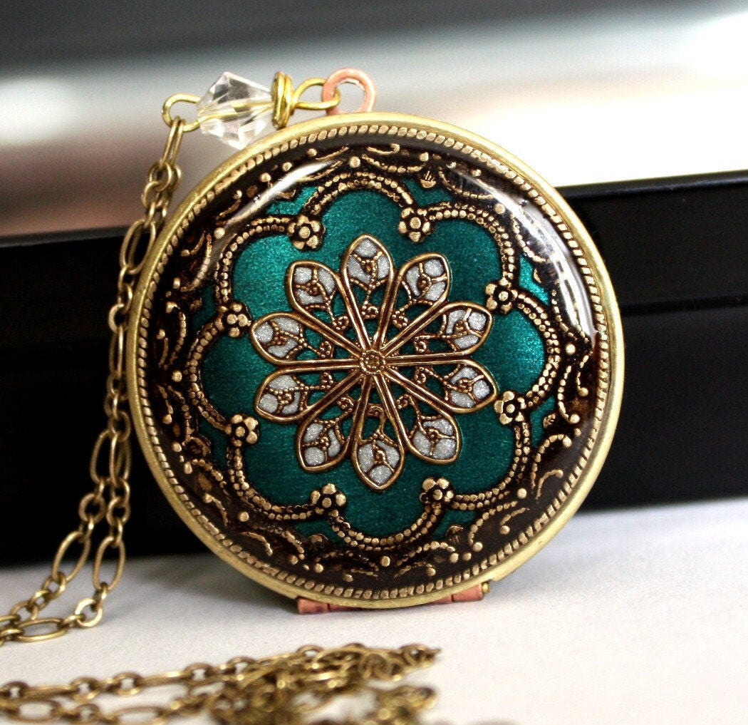 Etsy Wedding Gifts: Blue/ Locket/ Necklace/ Gift/ For/ Her/ Christmas Gift/
