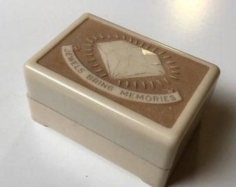Vintage Plastic Celluloid Bakelite Double Ring Box