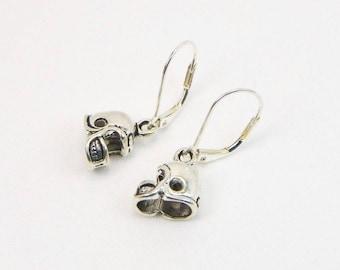Football Helmet Earrings - Football Player - Football Lover - Sports Gift - Dangle Earrings - Gift For Her