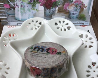 Lace Flowers mt ex Washi Masking Tape - 15mm x 10m