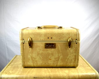 Vintage 1940s 40s Samsonite Train Case Luggage
