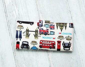 Women's Wallet,London Gift,London,Women Wallet,Vegan Wallet,Gift for Woman,Wallet For Women