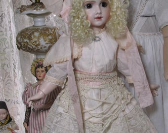 Gorgeous reproduction antique doll Thullier doll Display ready high quality beauty