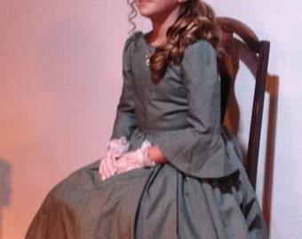 Zerelda-Custom Made 1800s Southern Belle Civil War Girls Dress Historical Reenacting Theatre Play-MADE TO ORDER