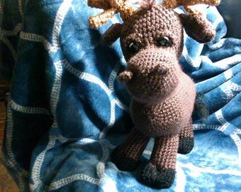 Crochet moose any colors you want