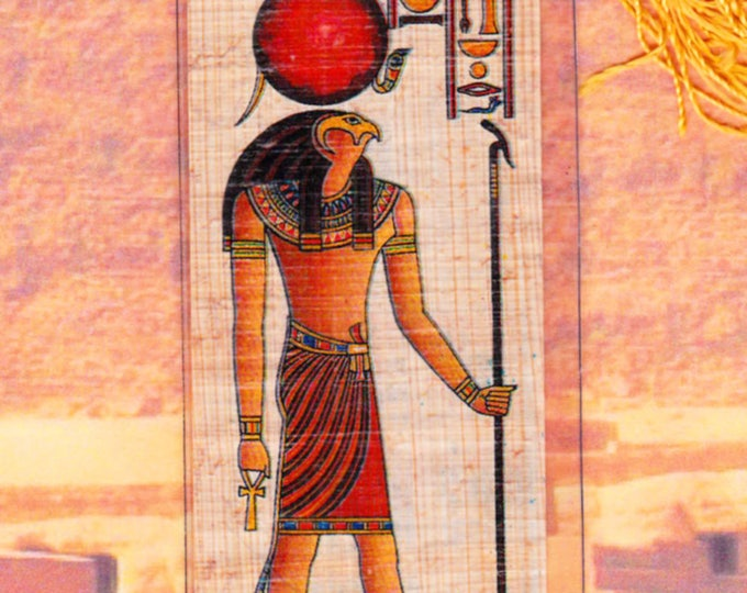 Horus Egyptian God of light and Goodness Bookmark. Genuine Egyptian Papyrus! Unique, inexpensive gift for you or dad, mom and more