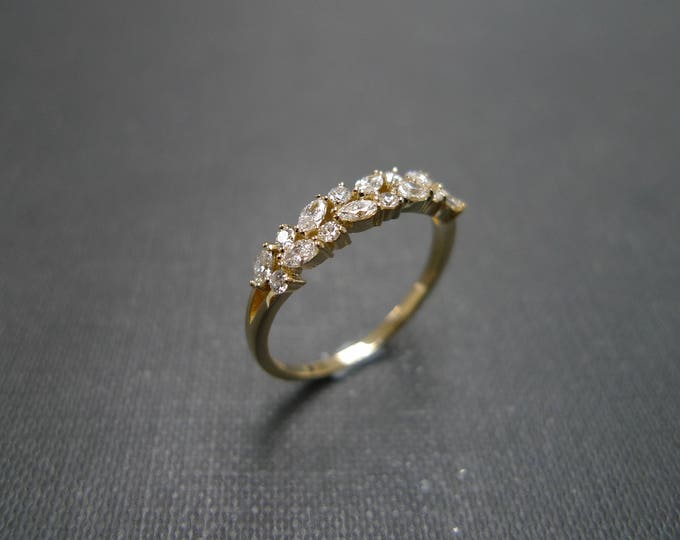 Valentine's Day, gifts for her, stocking stuffer, Marquise Ring, Marquise Diamond Ring, Yellow Gold Ring, Engagement Ring, Marquise cut Ring