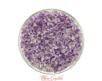 """1 oz AMETHYST MIX Mini Size 00 """"Sand"""" All Natural Rough Points Pieces Crystal Stone for Crafting #AP20"""
