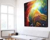 Orion Nebula Original Painting | Geek Decor | Geek Gift | Orion Constellation | Nerd Art | Galaxy Art | Galaxy Painting | Space Wall Art