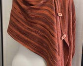 Rigid Heddle Weaving Kit, Three-Button Wrap with Cotton, Rayon, Bamboo and Ribbon