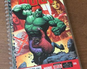 Hulk Upcycled Comic Book Journal