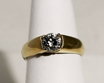 14K Yellow Gold .50ct Diamond Solitaire Engagement Ring