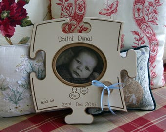 Birth Photo Puzzle Board - Personalized wooden gift - Irish Furniture Store