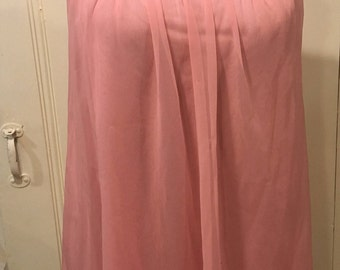 1960s pink Shadowline negligee, Large