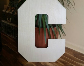 "Wedding Guest Book Alternative, 2 foot tall wood letter, unfinished wooden letter, Wedding Sign, 24"" wood letter, large wood letter, Birch"