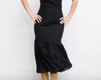 90s Vintage Black Maxi Dress,  Strap Dress, Medium Size Dress, Sleeveless Long Dress