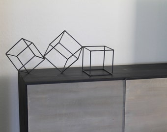 Metal Abstract Art Sculpture Modern Retro Simple Table Decor Contemporary Geometric Mid Century by Petrykowski Artworks