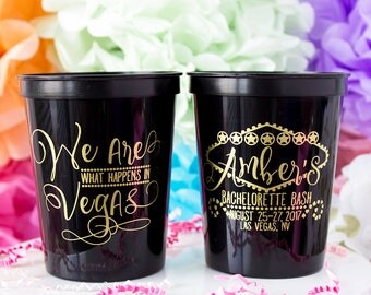 Bachelorette Party Cups, Las Vegas Bachelorette Cups, Personalized Cups, Bachelorette Tumbler, Bridal Party Cups, Bachelorette Gift