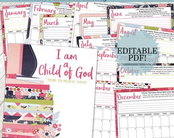 2018 Primary Planner - Strawberry Punch Color Scheme 2018 LDS Primary Planner, 2018 Primary, LDS Planner