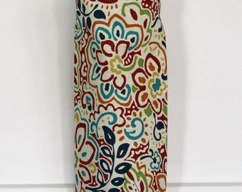 Grocery Bag Holder Made with Spirited Confetti Home Decor Fabric