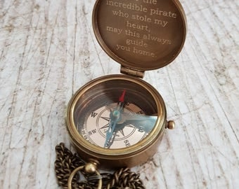 compass, engraved working compass, personalized compass, groomsmen gift, christmas, mens, engraved compass, fathers day gift, anniversary