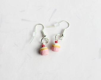 Miniature Cupcake Earrings, Miniature Food Jewelry