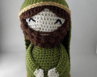 Amigurumi St. Joseph Crochet Pattern / Crochet Manger Scene / Christmas Crochet Pattern / Holy Family / St. Joseph Foster Father of Jesus