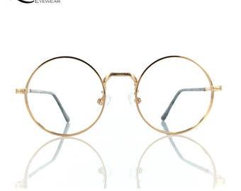Lurveau®  22K Gold-plated Italian Round Vintage Frame / 870