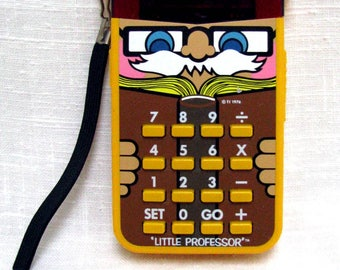 "Texas Instruments ""Little Professor"" Math Tutor Vintage TI Educational Learning Aid Electronic Calculator Flash Cards + - x ÷ Basic Skills"