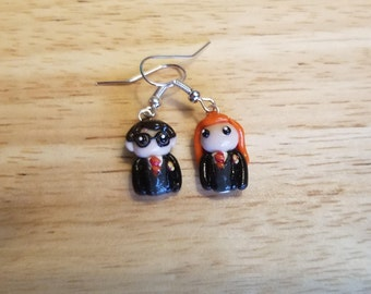 Harry Potter and Ginny Weasley earrings