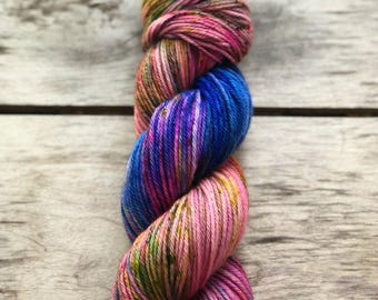 Yarn, indie dyed yarn, Enchanted, sw merino yarn, dyed worsted, dyed dk, dyed sock, yarn, lavender yarn, Christmas gifts