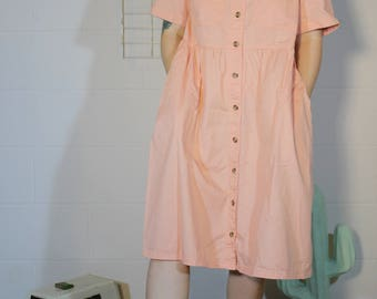 awesome peachy dress with pockets