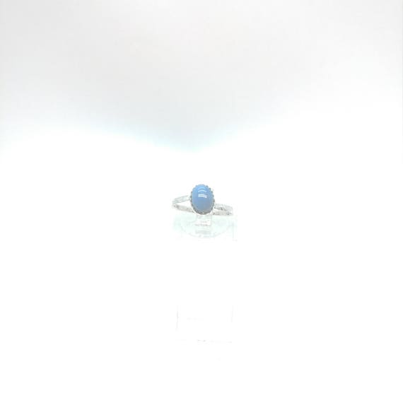 Owyhee Blue Opal Ring | Blue Stone Ring | Sterling Silver Ring Sz 6.5 | Blue Opal Jewelry | Simple Blue Ring | Oregon Opal Jewelry