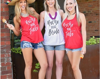 Bachelorette Party Shirts, Nacho Average Bride, Nacho Average Fiesta, Bachelorette Party Favor, Bachelorette Party Tanks