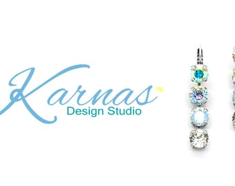 FULL OF WHIMSY 8mm Four Stone Drop Leverback Made With Swarovski Crystal *Pick Your Finish *Karnas Design Studio *Free Shipping