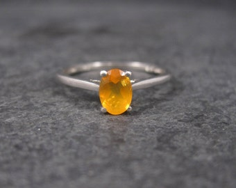 Vintage Sterling Mexican Fire Opal Ring Size 8